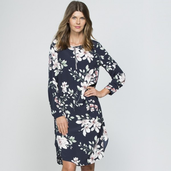 Clarity Floral Zip Dress (#33587)