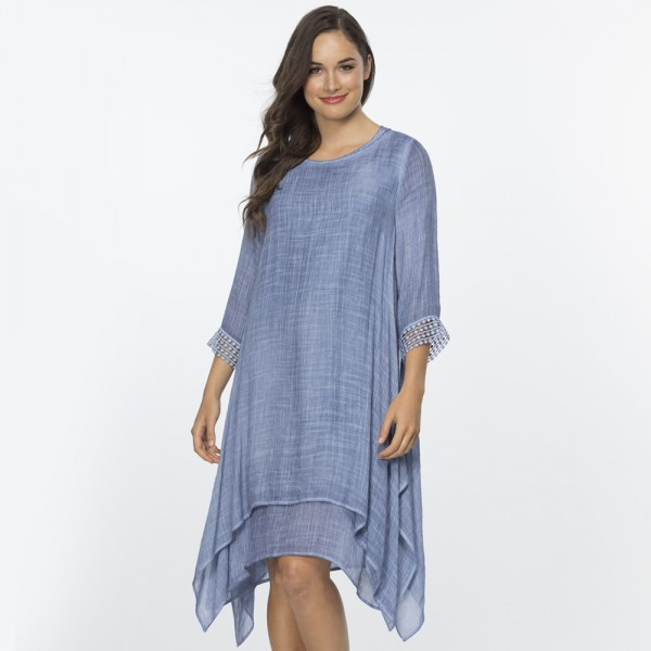 Clarity Layered Lace Trim Dress (#34489)