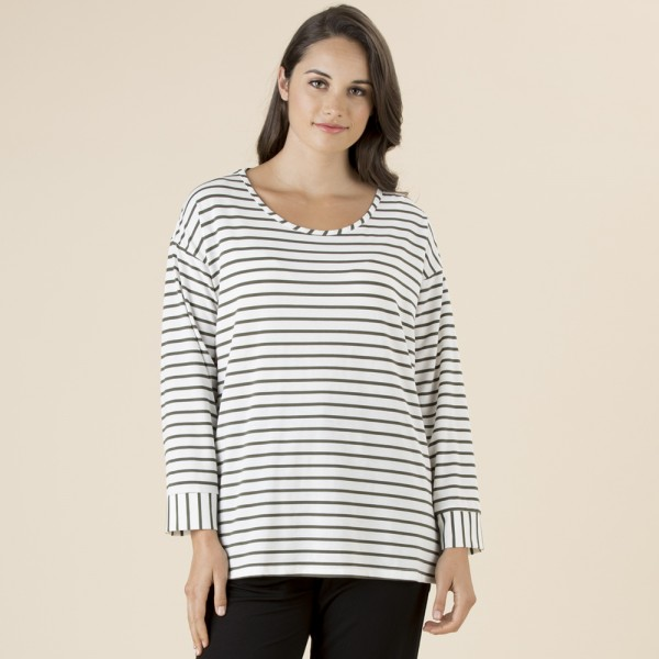Clarity L/S Stripe Tee (#36537)