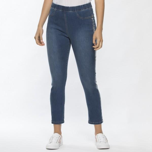 Threadz Side Foil Trimmed Jean (#34506)