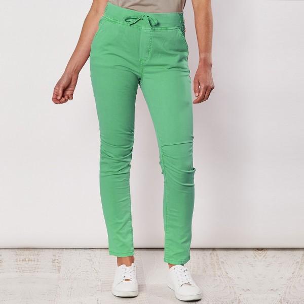Threadz Tie Front Gathered Jeans (#36713)