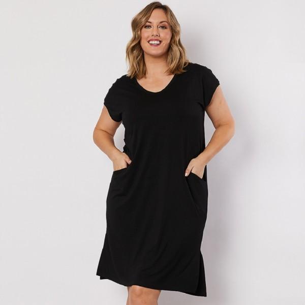 Clarity Essential V-Neck Dress (#39782)