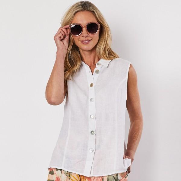 Gordon Smith Sleeveless Button Shirt (#39050)