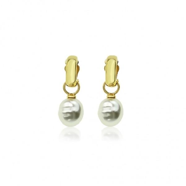 Le Château 2-in-1 Pearl Clip Earring (#E11425)