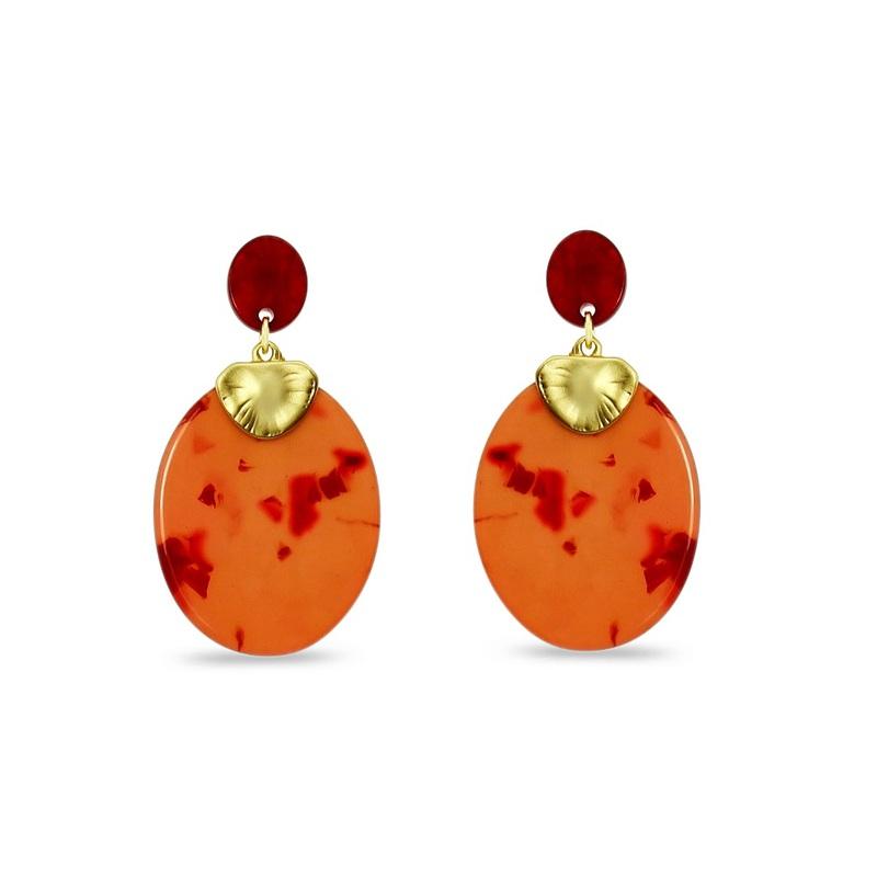 Le Château Acrylic Pierced Earrings (#EM100)