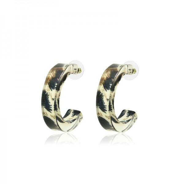 Le Château Acrylic Pierced Earrings (#EM32)