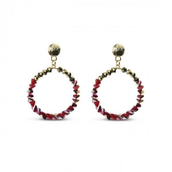 Le Château Circle Drop Earrings (#EP158)