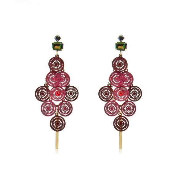 Le Château Crystal Filigree Earrings (#EQ14)