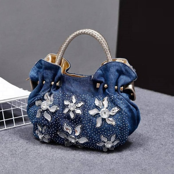 Le Château Denim Handbag (#HKA1801)