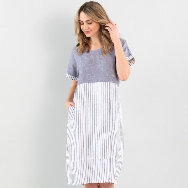 Marco Polo S/S Linen Dress (#YTMS09078)
