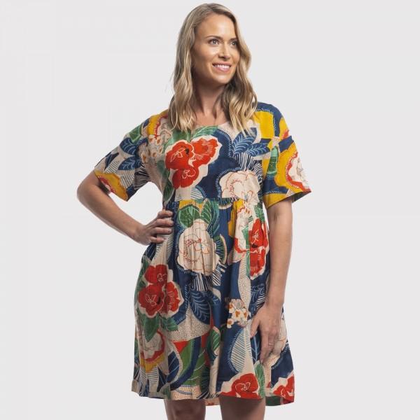 Orientique 'Costa Brava' Button Dress (#81100)