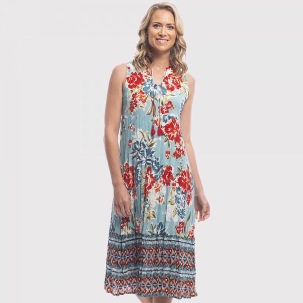 Orientique 'Playa Blanca' Midi Dress  (#81141)
