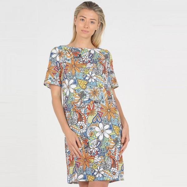 Privilege 'Floral Paisley' Tee Dress (#3456-312)