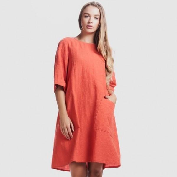 Privilege Asymmetric Pocket Dress (#3524-373)