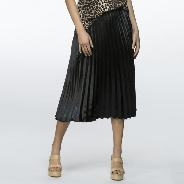 Threadz Satin Pleat Skirt (#35844)