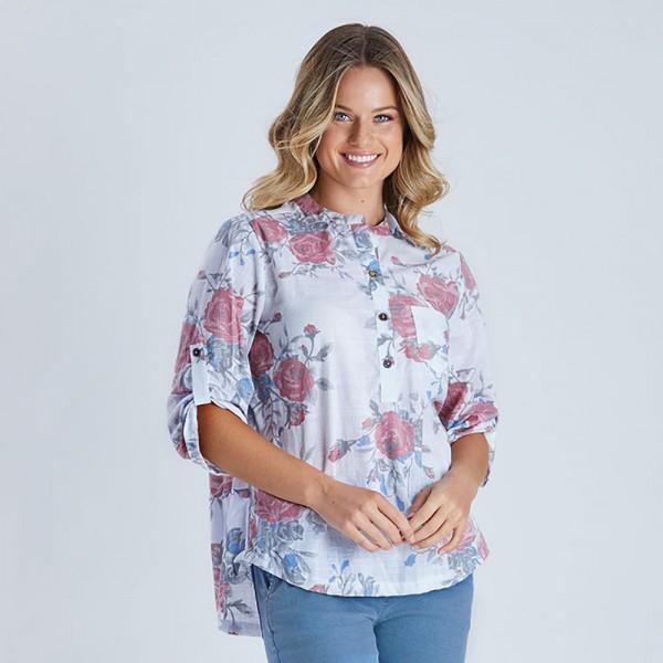Threadz Floral Print Shirt (#38490)
