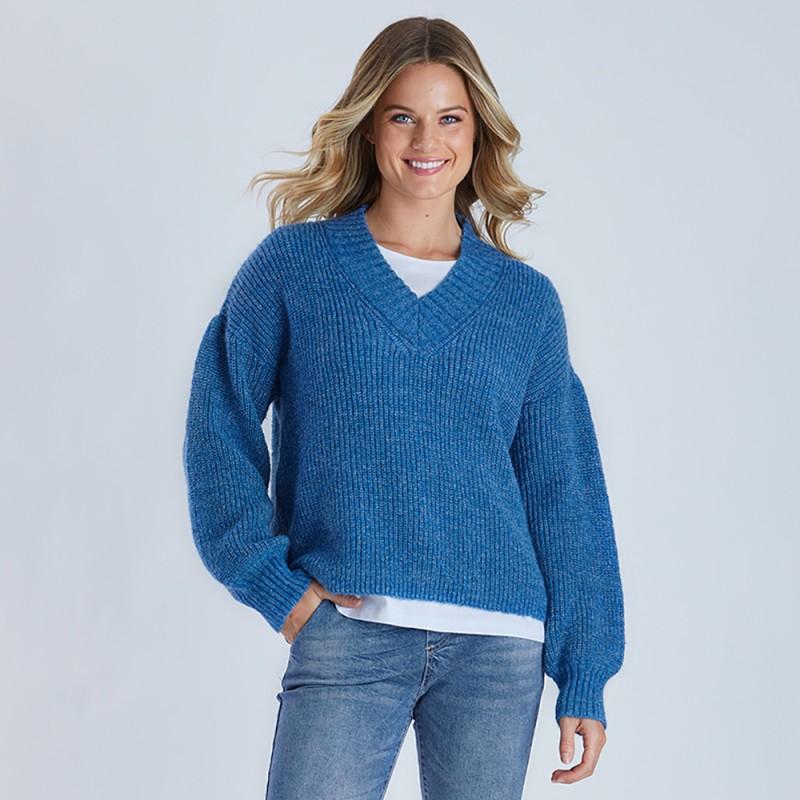 Threadz Chunky V-Neck Knit (#38885)