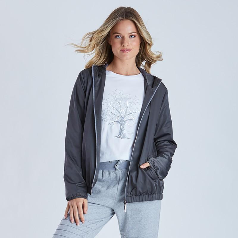 Threadz Sequin Hood Walking Jacket (#38926)