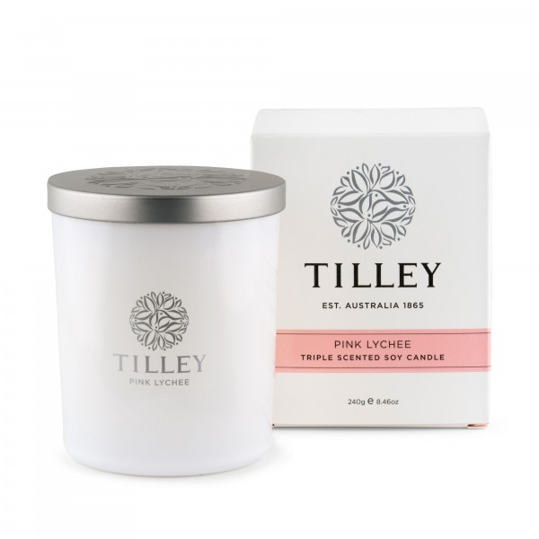 Tilley Pink Lychee Soy Candle (#FG0705)